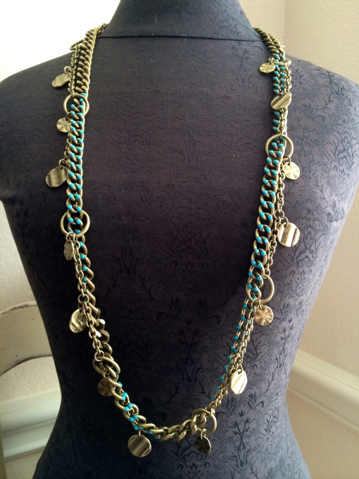 Open up the doubled woven  Free Spirit  & Shake It Up necklaces and wear them long.