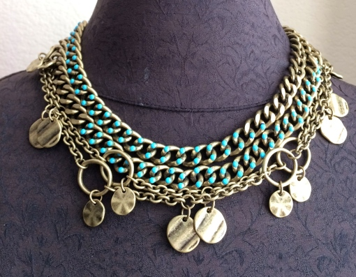 Shake it up a bit!  Double the Shake It Up and Madrid necklaces to create this combo.