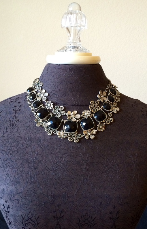 Perfection necklace nested between the doubled Daisy Chain. Premier Designs Jewelry