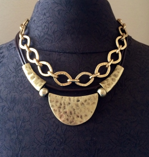 Layer the Artisan necklace with the Golden Rule necklace to  create a statement piece.  Jewelry by Premier Designs