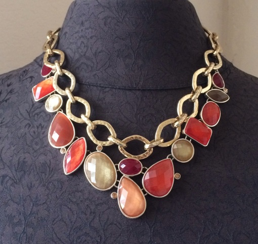 Layer the Golden Rule necklace with the Poppy necklace.  Beautiful Duo!  Jewelry by Premier Designs
