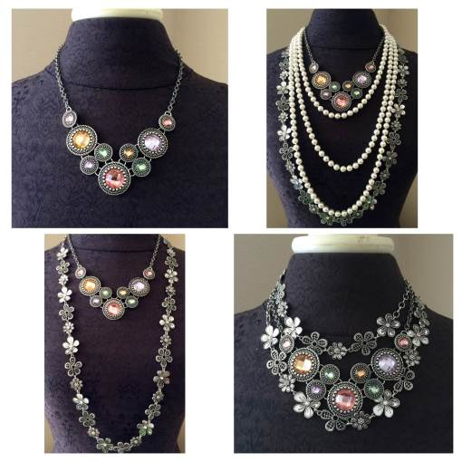 Chiffon, Opening Night & Daisy Chain necklaces