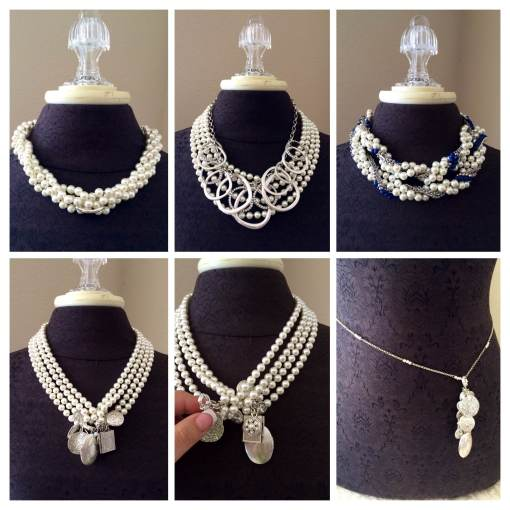Here are just a few of the many combo's you can create with pairing the Opening Night necklace with the Round About, True Blue and the Near & Dear Necklaces.