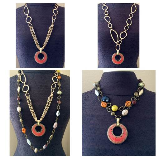 Learning the jewelry techniques of doubling & framing help you create great combinations using the Indulgence, Wild Heart,Double Take necklaces.