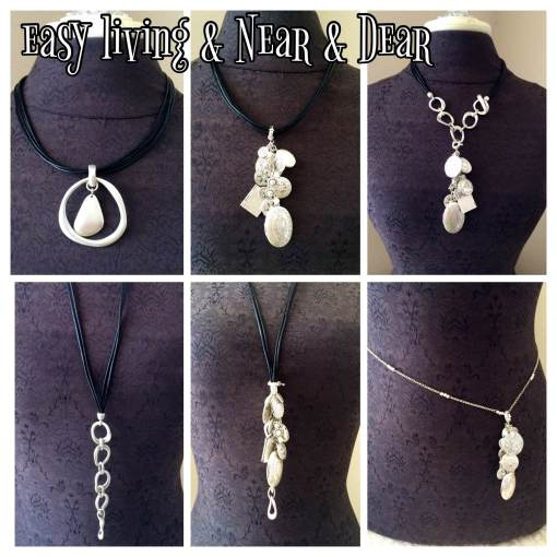 It is easy to see why the Easy Living  and the  Near & Dear necklaces  are the perfect combo duo. The Easy Living necklace can be opened up and worn long.  Add the charms off the Easy Living necklace to change up the look.